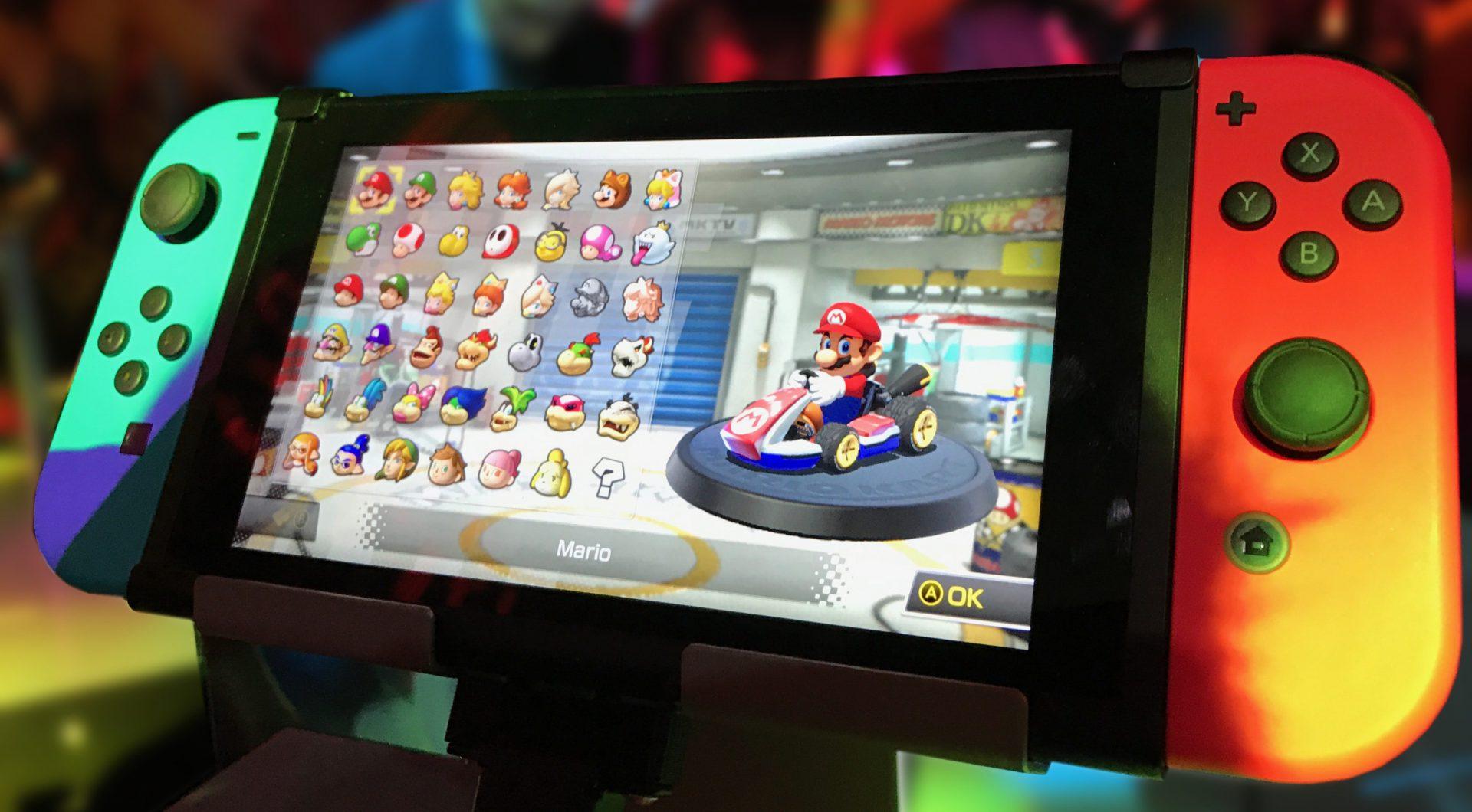 Mario Kart 8 auf Nintendo Switch Slider Hintergrundbild